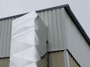 Calorifugeage gaine de ventilation industrielle