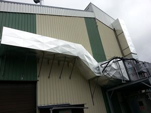 Calorifuge gaine de ventilation industrielle