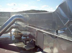 Calorifuge gaine de ventilation industrielle extérieure