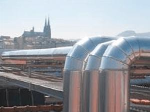 Calorifugeage gaine de ventilation industrielle extérieure
