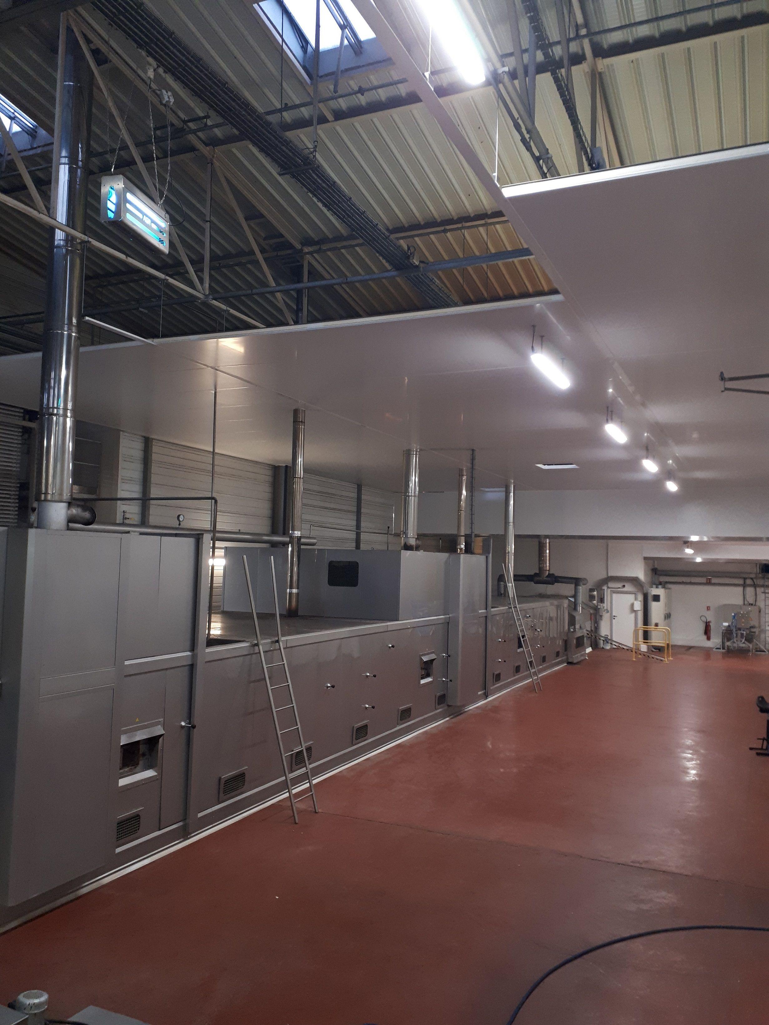 Isolation frigorifique d'un bâtiment industriel